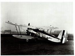 BRISTOL BULLDOG 2 SEATER    21 * 16 CM Aviation, AIRPLAIN, AVION AIRCRAFT - Aviación