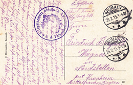 CP Avec Cachet Kriegslazarett ABTEILUNG 2 * A.A.Falkenhausen * Obl BRUMATH Du 26.2.15 Adressée à Nordstetten - Marcophilie (Lettres)