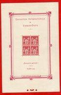 Bloc FRANCE Exposition Internationale De Timbres Poste Paris 1925 Neuf X - Blocs & Feuillets