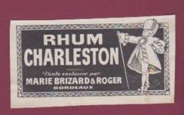 150718 - étiquette ALCOOL Apéritif Digestif - RHUM CHARLESTON MARIE BRIZARD & ROGER BORDEAUX - Rhum