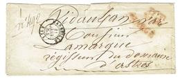 BOUCHE DU RHONE 13 MARSEILLE LSC TAD 15 Du 11/01/1854 PP + CHARGE TTB - Postmark Collection (Covers)