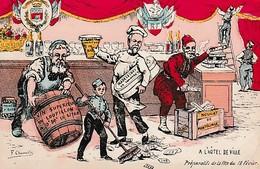 """RÉVOLUTION De FÉVRIER 1848 - Carte Postale Humoristique - """"A L'Hôtel De Ville - Préparatifs De La Fête Du 18 Février"""" - Historical Documents"""