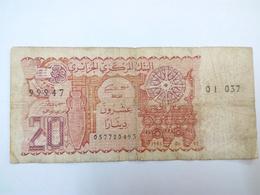 ALGERIE BILLET DE 20 DINARS ALGERIENS - Algeria