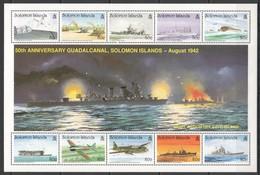 M726 SOLOMON ISLANDS WORLD WAR II WWII 50TH ANNIVERSARY GUADALCANAL 1SH MNH - 2. Weltkrieg
