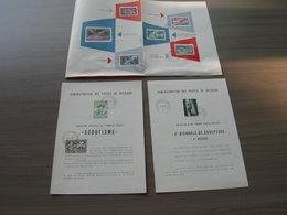 """BELG.1957-58 1022-23 & 1024 & 1047-52 """"3 Folders"""" FR TIMBRES Avec Oblitéré Premier Jour - FDC"""