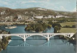 LAGNIEU - CPSM : Vue Aérienne Le Pont Sur Le Rhône - France