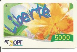 Télécarte Nouvelle Calédonie - Prépayée LIBERTE 5000 - 31/12/2006 Utilisée - New Caledonia