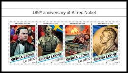 SIERRA LEONE 2018 MNH** Alfred Nobel M/S - IMPERFORATED - DH1827 - Nobel Prize Laureates