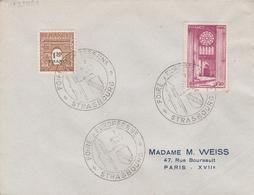OBLIT. ILLUSTRÉE FOIRE EUROPÉENNE STRASBOURG 09/47 - Postmark Collection (Covers)