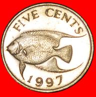 # FISH (1986-1998): BERMUDA ★ 5 CENTS 1997! LOW START ★ NO RESERVE! - Bermudes