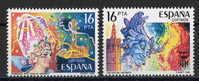 SERIE TIMBRES ESPAGNE NOUVEAUX 1984 FETES POPULAIRES - CARNAVAL TENERIFE - FALLAS VALENCIA - Carnavales