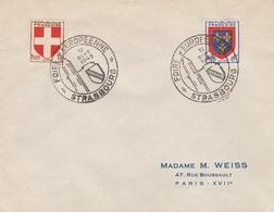 OBLIT. ILLUSTRÉE FOIRE EUROPÉENNE STRASBOURG 09/49 - Postmark Collection (Covers)