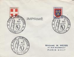 OBLIT. ILLUSTRÉE FOIRE EUROPÉENNE STRASBOURG 09/50 - Postmark Collection (Covers)