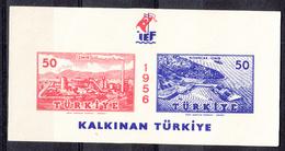 TURKIJE - Michel - 1956 - BL 7 - MNH** - 1921-... Republic