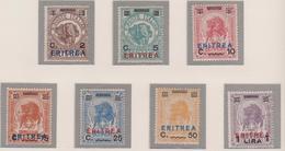 """Eritrea 1922 F.lli Di Somalia Soprastampati """"ERITREA"""" 80/86 MH - Eritrea"""