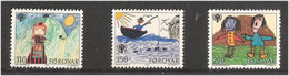 Faroe Islands 1979 International Year Of Children, Paintings From Children Mi 45-47 MNH(**) - Féroé (Iles)