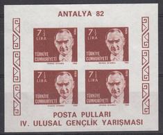 TURKIJE - Michel - 1982 - BL 22B - MNH** - 1921-... Republic