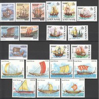 M736 1988,1991,1999 TOGOLAISE VIET NAM GUINE-BISSAU TRANSPORT SHIPS 3SET MNH - Bateaux
