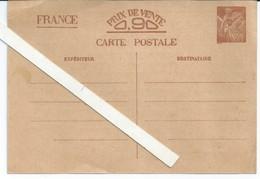 CARTE POSTALE FRANCE PRIX DE VENTE 0,90 CARTE VIERGE 1940//1945   N03 - Matériel