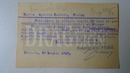 D159890  Commercial Postcard - Baumann & Protti  TRIESTE, Sorcolla E Palmanova - Sent To Agenzia Harmath  FIUME  1927 - Italia