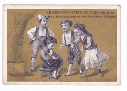 Rare Chromo XIXe S., «La Sellette», Grands Magasins Du Coin De Rue, Rue Montesquieu, Rue Des Bons-Enfants, Paris - Autres