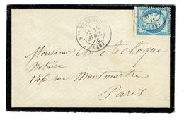 MARNE 51 SAINTE MENEHOULD LSC TAD 17 Du 17/04/1876 Sur N° 60 TTB - Marcophilie (Lettres)