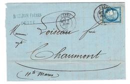 HERAULT 34 CETTE LAC TAD 17 Du 06/06/1876 Sur N° 60 TTB - Marcophilie (Lettres)