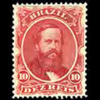 BRAZIL 1866 - Scott# 53 Emperor Pedro 10r LH - Ongebruikt