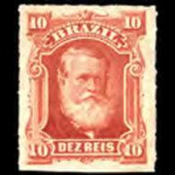 BRAZIL 1878 - Scott# 68 Emperor Pedro 10r LH Stain - Ongebruikt
