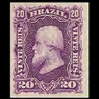 BRAZIL 1878 - Scott# 69 Emperor Pedro 20r MNH No Gum - Ongebruikt
