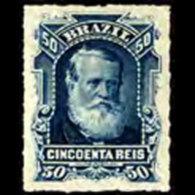 BRAZIL 1878 - Scott# 70 Emperor Pedro 50r LH - Ongebruikt