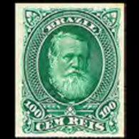 BRAZIL 1878 - Scott# 72 Emperor Pedro 100r MNH No Gum - Ongebruikt