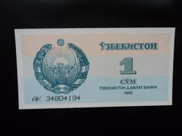 OUZBÉKISTAN : 1 SOM   1992  P 61a    NEUF - Ouzbékistan
