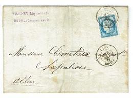 RHONE 69 LYON LAC TAD 18 Du 19/05/1876 Sur N° 60 TTB - Postmark Collection (Covers)