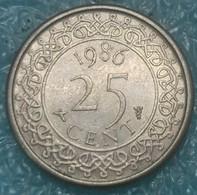 Suriname 25 Cents, 1986 -4175 - Suriname 1975 - ...