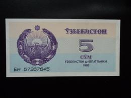OUZBÉKISTAN : 5 SOM   1992  P 63a    NEUF - Ouzbékistan
