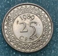 Suriname 25 Cents, 1989 - Surinam 1975 - ...