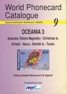 CATALOGO DE TARJETAS TELEFONICAS DE OCEANIA Nº3  DE 106 PÁGINAS (SEMINUEVO) MVCARDS - Tarjetas Telefónicas