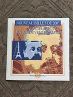 FRANCE: N°75 200 F Eiffel: Documentation De La Banque De France Sur Ce Billet Plastifié. - 200 F 1995-1999 ''Eiffel''