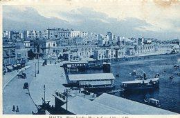 MALTA - Sliema Landing Place & Ceneral View -  1937 VG Postmark Etc - Malta
