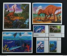 Grenada 1997** Mi.3421-24, Klb.3425-30 + Bl.454, 455. Prehistoric Animals [19;202] - Prehistorics