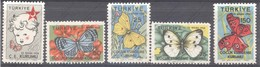 Turquie, Yvert Bienfaisance 235/239, Scott RA224/228, MNH - 1921-... Republic