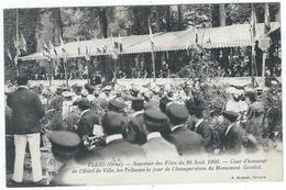 Flers Souvenir Des Fètes Du 26 Aout 1906 Cour D' Honneur De L' Hotel De Ville - Flers