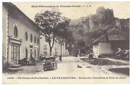 Cpa Environs De Pontarlier - Le Frambourg - Route Des Verrières Et Fort De Joux, Postée En Franchise Militaire - Autres Communes