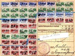 Fiscal Fiscaux, Carte Alsace Lorraine Assurances Sociales ( Baden Et Alsace) - Fiscaux