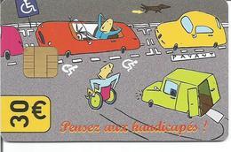 PARIS CARTE 30 € ( PENSEZ AUX HANDICAPES) - Scontrini Di Parcheggio
