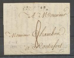 Lettre COL.N.PAR/LA ROCHELLE, Port Au Prince 1791, Salles N°16, SUP X4112 - Marcophilie (Lettres)