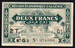 ALGERIE:  N° 102, Billet De 2F. Date 1944. - Algeria