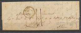 Lettre Pour Un Officier à SETIF, C.15 Metz 1843 + Taxe 11 Manuscrite, TB X4125 - Postmark Collection (Covers)