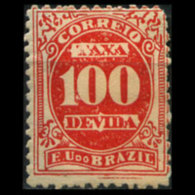 BRAZIL 1895 - Scott# J21 Numeral 100r LH - Ongebruikt